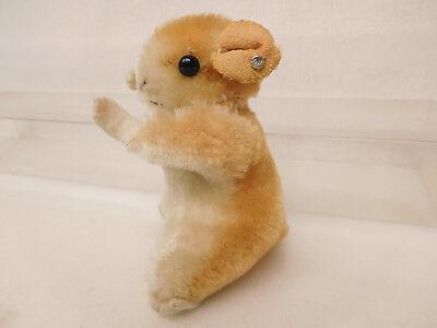 MES-52286Älterer Steiff Hamster H:ca.9cm mit Holzwollstopfung mit Knopf, 3