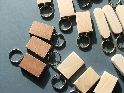 KEYRING SYCAMORE BLANKS-NEW SIZE-pyrography,painting-engraving-10 in pack £6.50