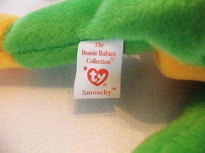 TY Beanie Babies Green Frog ** SMOOCHY ** 5th Generation New w/ Tag
