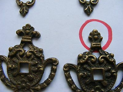 Brass Cabinet Handle Adornments x 8