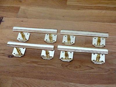 6 X Brass Art Deco Door Or Drawer Pull Handles Cupboard Furniture  Knobs 2