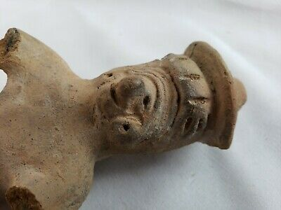 """Rare authentic pre-colombian pottery, part of collection, #8, 4 1/2"""" 6"""