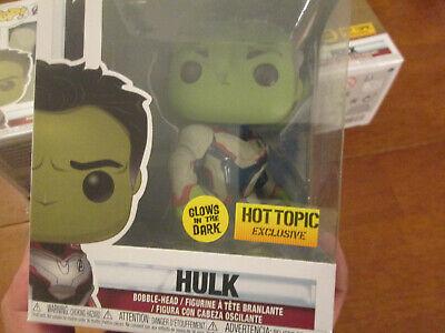 Funko Pop Marvel Avengers Endgame Hulk 451 Glows In The Dark Gitd Hot Topic 2019 2