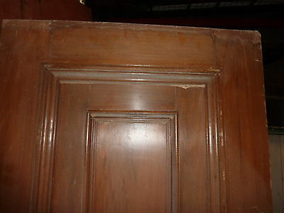 """c1902 antique MAHOGANY door BEAUX ARTS mansion 81.5 x 24 x 1.75"""" original FINISH 10"""