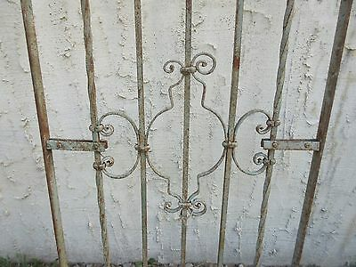 Antique Victorian Iron Gate Window Garden Fence Architectural Salvage #768 3
