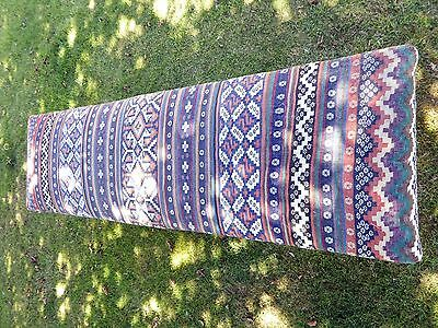 Large Ornate Painted Stool Length 5Ft 6 Aztec Carpet Upholstery  Free Shipping 6