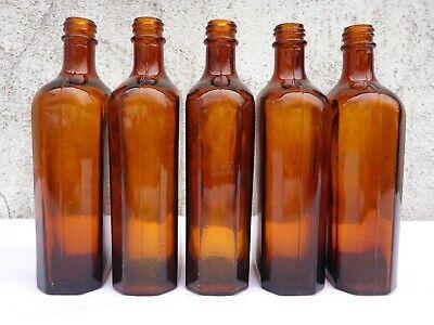 5 x alte braune Medizin Glas Apotheke Apotheker Flasche 250 ml ca. 17,0 cm braun 5