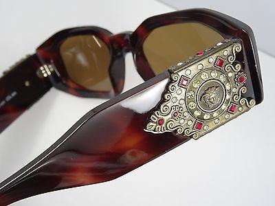 3314e930b45 ... Rare Vintage Gianni Versace Sunglasses Mod 414 h Col 90A + Case 7