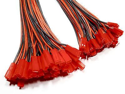 JST BEC Stecker 10cm 15cm 20cm LED Kabel Lipo Akku 22AWG 1 2 3 4 5 10 20 50 Paar
