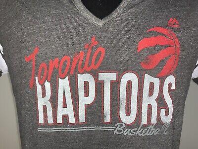 Women's NBA Basketball Majestic Fan Fashion Toronto Raptors Grey Shirt NWT Large 2