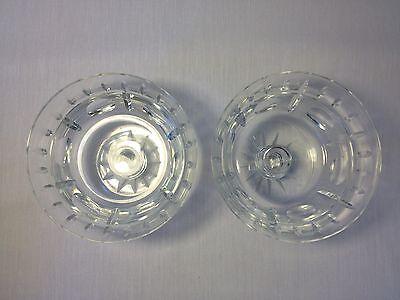 Elegant Pair Of Kosta Boda Champagne/Tall Sherbet Glasses Betty Pattern