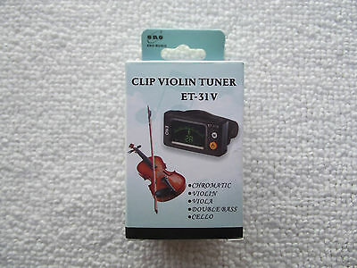 BRAND NEW LCD Mini Clip On Digital Violin,Viola,Cello Tuner