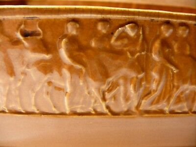 Victorian Pottery Pressed Embossed Roman Pattern Cattle Oxen & Men Bowl Tureen