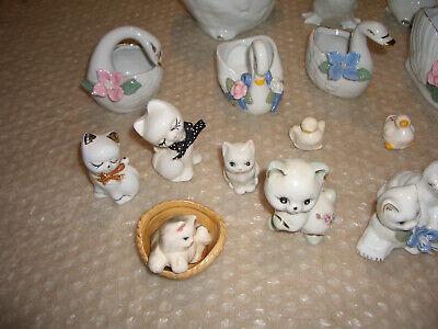 Dachbodenfund-Dekofiguren-Tiere 16 Stück und 2 Kerzenhalter!! 3
