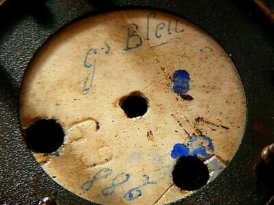 Antique Marti French Mantel Clock Gilt Sevres ? Porcelain Panel Clock 10