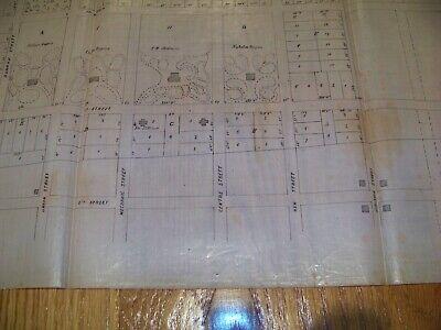 1853 Map Plainfield NJ Stillman Rogers Vosseller Sauerwein Cedar Brook 4