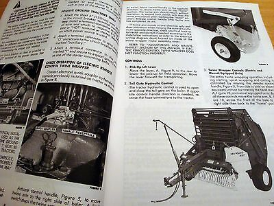 NEW HOLLAND 850 Round Baler Operator's Owners Book Guide Manual NH Sperry