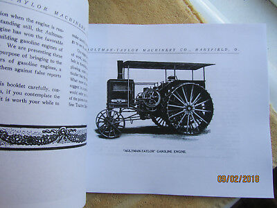 1910s Aultman Taylor Gasoline Traction Engine Catalog 2