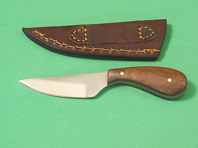 """SKINNER PATCH KNIFE DH7991 Brown wood full tang blade 4 3/8"""" overall PA7991 NEW! 3"""