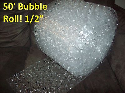 """50 Foot LARGE Bubble Wrap® Roll 12"""" Wide! 1/2"""" Bubbles! Perforated Every Foot 2"""
