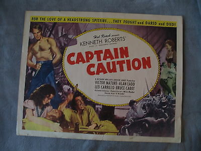 Captain Caution 1940 Victor Mature Alan Ladd Half sheet Movie Poster GVG C5