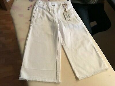 Next - Girls Ankle Length WHITE Culottes (5 years) Adjustable Waist NWT £13 2