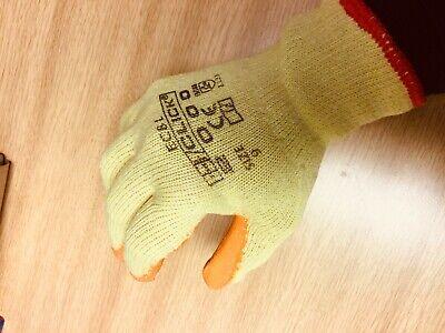 10 Pairs Rubber Safety Gripper Gloves Mens Builders Gardening DIY Work Gloves 5