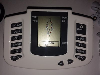 Electro Tens Ems Estim High Power Usb Lcd Unit With 4 Rings & 8 Pads !Uk Seller 6