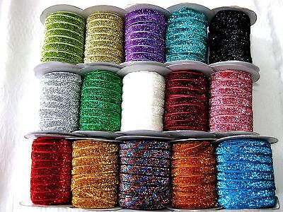 3 m Lurexband,Glitzerband,Farbe wählbar, 10mm breit,  (2) (0,66€ pro Meter)