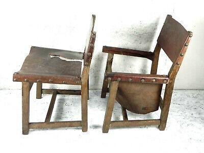 COPPIA 2 SEDIA in legno massello Antica D\'epoca vintage ...