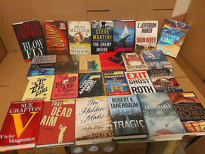 Lot of 10 Mystery Suspense Thriller Crime Murder Detective Hardcover HB MIX Book 6