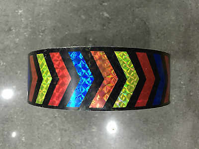 30CM/3M/5M Reflective Safety Warning Conspicuity Tape Film Stickers Multicolor 3
