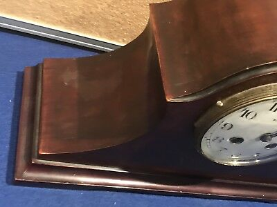 Victorian Mahogany Cased With French Movement Clock 4