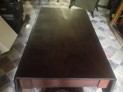 Exceptional Antique Mahogany 19th Century Flap Top Pedestal Table Dining Tea 6