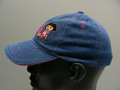 Dora The Explorer - Denim - Toddler Size Ball Cap Hat!