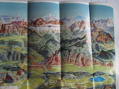 Bozen mit Umgebung  Panoramakarte Infobroschüre Reiseinformation Landkarte