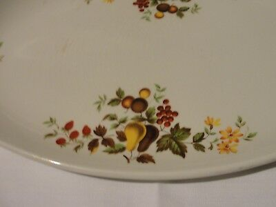 Vintage floral china serving platter 6