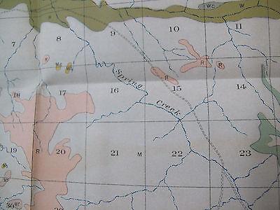 Color Soil Survey Map McKenzie North Dakota Bennie Pierre Creek Sheep Butte 1907 2
