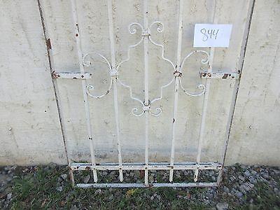 Antique Victorian Iron Gate Window Garden Fence Architectural Salvage #844 4