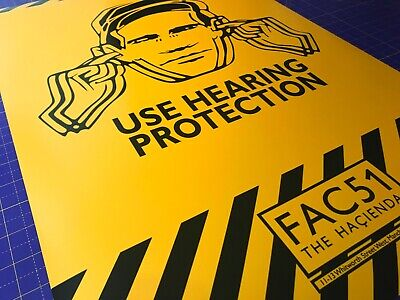USE HEARING PROTECTION • FAC51 Hacienda Manchester • Poster Print • A4 - A2 size 3