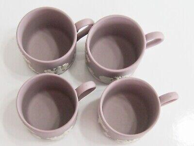 Antique / Vintage Lilac Wedgwood Jasperware Cupid Mythology Demitasse 4 Cup Set 11