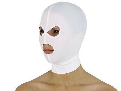 Dehnbare Kopfmaske Stoff Maske ohne Öffnungen geschlossen Pink Schwarz Weiß