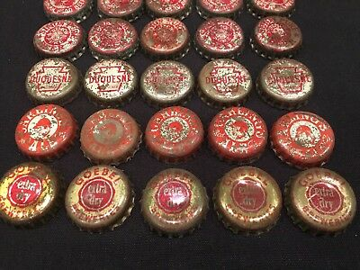 Vintage Lot (25) BEER bottle cap crown Iroquois Duquesne Goebel Carlings 3