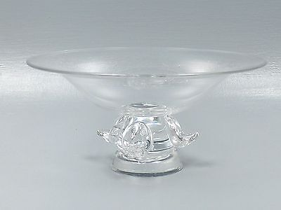Large Vintage Steuben Crystal Footed Bowl Compote Tazza Fruit Centerpiece Gl
