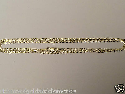 43d1d54fd ... 14k Solid Yellow Gold Necklace Flat Gucci Mariner Chain 2mm 20