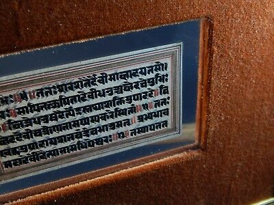 Rare Indo Persian Mughal Qujar Book Fragment Double Sided Frame See Both Sides 8