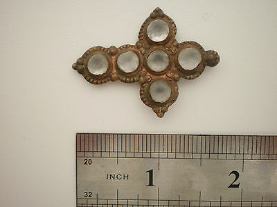 RARE Wearable Medieval White Glass Stones PENDANT CROSS 16-17 century AD