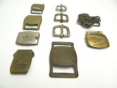 Mixed Antique & Vintage Lot Metal Brass Iron SK Allison Belt Buckles Military 5