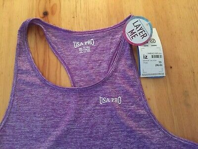 Girls USA PRO  PURPLE SPORTS TOP - SIZE  TO SUIT 13 Years- XLG 2