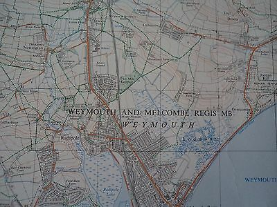 """Ordnance Survey Map 2.5"""" SY68/78 Weymouth N 1969 Dorchester S. Maiden Castle 2"""